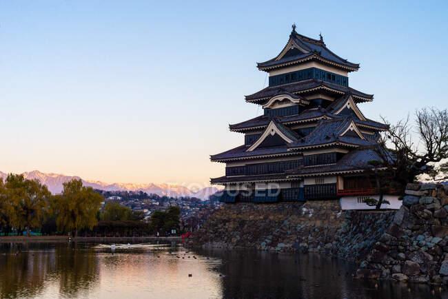 Château de Matsumoto, préfecture de Nagano, Honshu (Japon) — Photo de stock