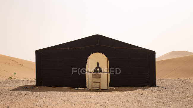 Tent camp in Erg Chigaga in Sahara desert, Morocco, Africa — Stock Photo