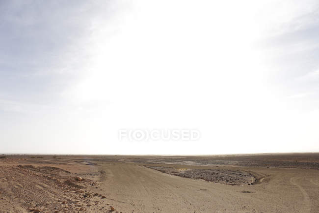 Arid hilly landscape of desert by Tamegroute, Zagora, Morocco — Stock Photo