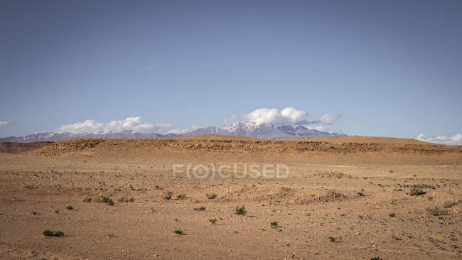 Paesaggio arido naturale nel deserto di Amerzgane, Marocco — Foto stock