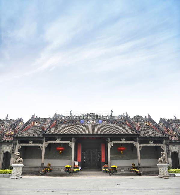Bâtiment oriental asiatique de l'Académie Chen en Chine, Asie — Photo de stock