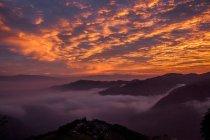 Красивий краєвид з гори, на терасі Наньо в провінції Юннан, Китай — стокове фото