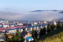 Високий кут огляду Arxan, Внутрішня Монголія, Китай — стокове фото