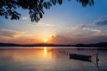 Beaux paysages du lac Lihu dans la ville de Wuxi, province du Jiangsu, Chine — Photo de stock