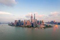 Architettura moderna e Shanghai Cityscape, Shanghai, Cina — Foto stock