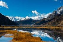 Красивый пейзаж с живописным ледником Лайгу в Тибете — стоковое фото