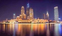 Vue de nuit de la ville de Tianjin, Chine — Photo de stock