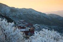 Vue panoramique des montagnes de Yangming dans la province de Hunan, Chine — Photo de stock