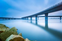 Jiaozhou Bay Bridge of Qingdao, Shandong Province, China — стокове фото
