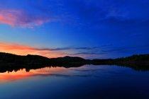 Magnifique paysage de Hulun Buir Mongolie intérieure au coucher du soleil — Photo de stock