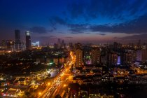 Night view of Wuxi City, Jiangsu Province, China — стокове фото