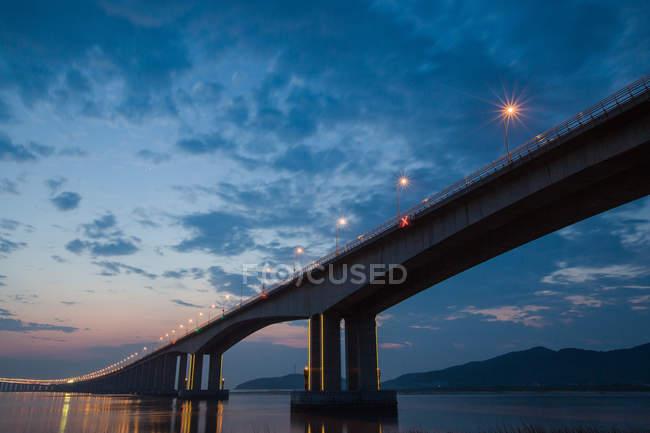 Zhejiang Hou cross-sea bridge in Shanxi Province, China — Stock Photo