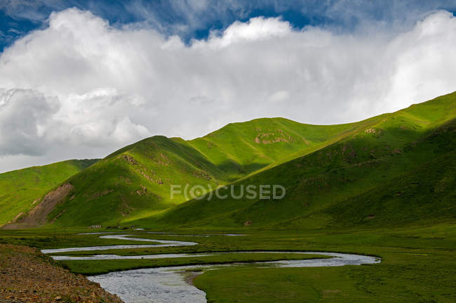 Gannan grassland scenery in Gansu province, China — Stock Photo