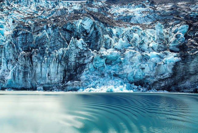Incredibile vista naturale di maestoso iceberg in Alaska — Foto stock
