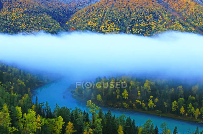 Amazing landscape in Xinjiang Kanas National Geopark, Burqin County, China — Stock Photo