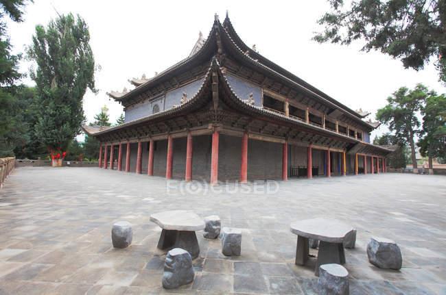 Ancienne architecture asiatique à Zhang ye jinzhou dans la province du Gansu — Photo de stock