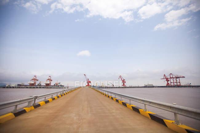 Zhejiang zhoushan port zone de libre-échange complète — Photo de stock