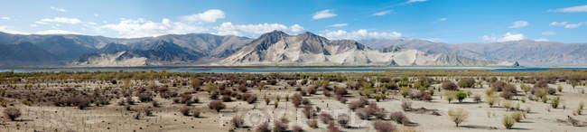 Красивый пейзаж с Тибетским плато ad yarlung реки Цангпо — стоковое фото