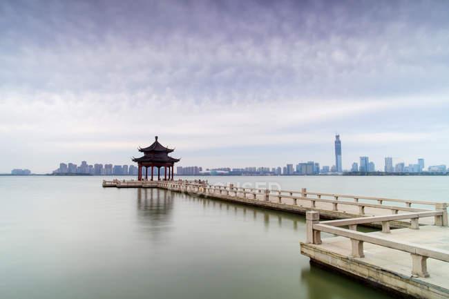 Красиві Jinji озеро, Сучжоу, Цзянсу, Китай — стокове фото