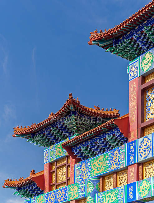 Roof detail and beautiful ancient traditional chinese architecture — Stock Photo