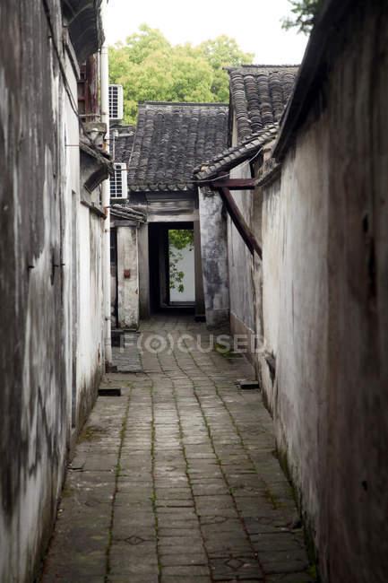 Традиційна китайська архітектура в Куншань, Цзянсу, Китай — стокове фото