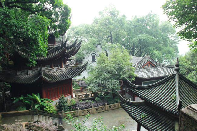 Traditional chinese architecture at Shaoxing, Zhejiang, China — Stock Photo