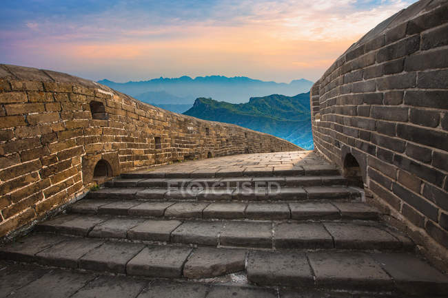Beautiful scene with Jinshanling, Great Wall, Hebei, China — Stock Photo