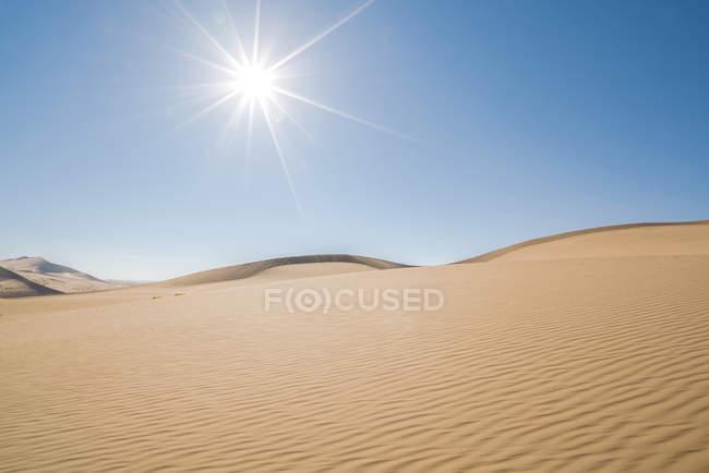 Beautiful Gobi desert with sand dunes at sunny day, Inner Mongolia, China — Stock Photo