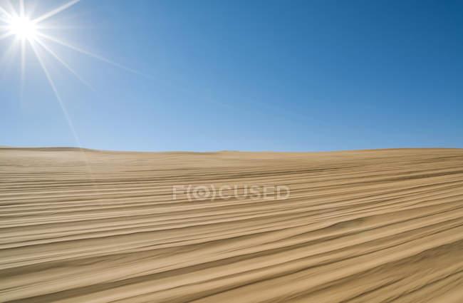 Beautiful Gobi desert at sunny day, Inner Mongolia, China — Stock Photo