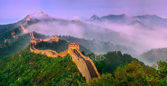 Ancienne Grande Muraille, Jinshanling, Hebei, Chine — Photo de stock