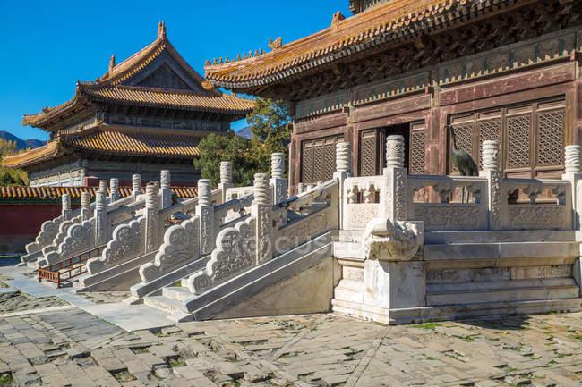 Старовинні китайські архітектури в східному Цин гробниць, Zunhua, Хебей, Китай — стокове фото