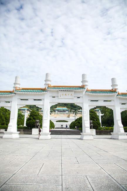 Architecture étonnante au célèbre palais impérial de Taipei, Taiwan — Photo de stock