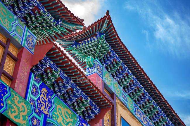 Дах докладно і красива старовинна традиційна китайська архітектура — стокове фото