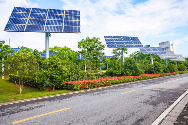 Solar panels of Wuxi City in China — Stock Photo