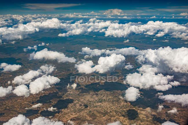 Luftaufnahme der schönen Landschaft im Hexi-Korridor, China — Stockfoto
