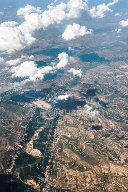Veduta aerea del bellissimo paesaggio nel Corridoio di Hexi, Cina — Foto stock