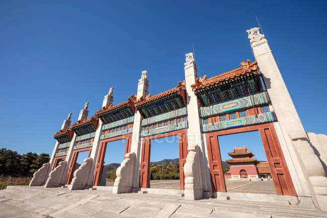 Low angle view of Ancient Eastern Qing tombs, Zunhua, Hebei, China — Stock Photo