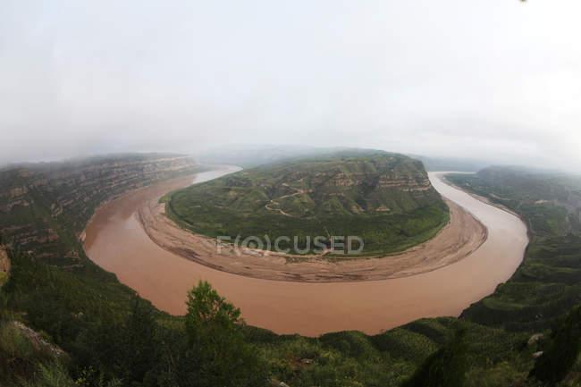 Qiankun Bay paysage du comté de Yonghe, province du Shanxi, Chine — Photo de stock