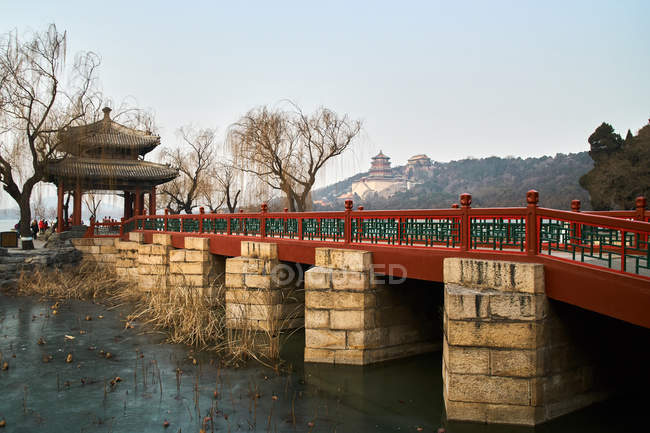 Architecture of Summer Palace in Beijing, China — Stock Photo