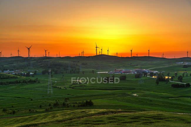 Zhangbei prairie de la ville de Zhangjiakou, province de Hebei, Chine — Photo de stock