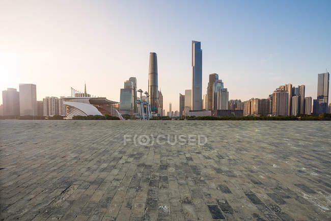 Edifici della città di Guangzhou, provincia del Guangdong, Cina — Foto stock