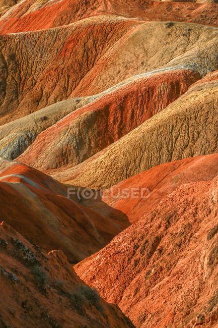 Amazing Natural Landforms of Danxia, Zhangye City, Gansu Province, Chine — Photo de stock