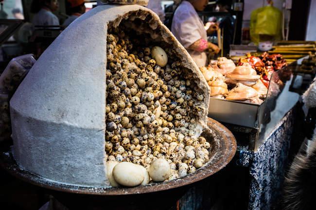 Погляд на смачні Шанхайські закуски. — стокове фото