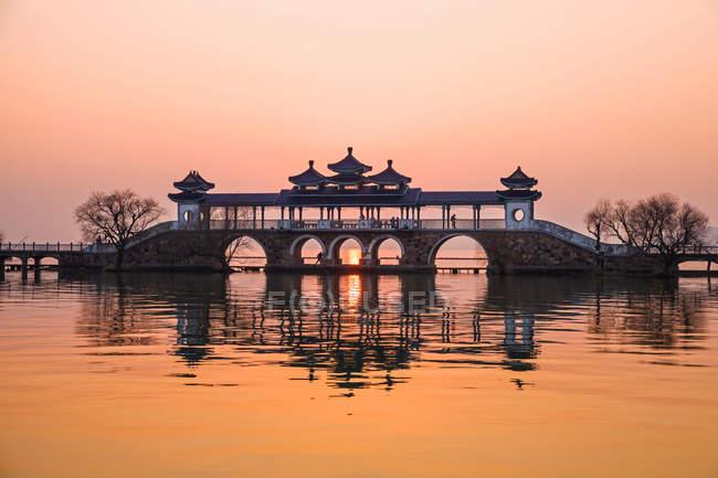 Scène incroyable au lac Tai, Taihu, Wuxi, province du Jiangsu, Chine — Photo de stock