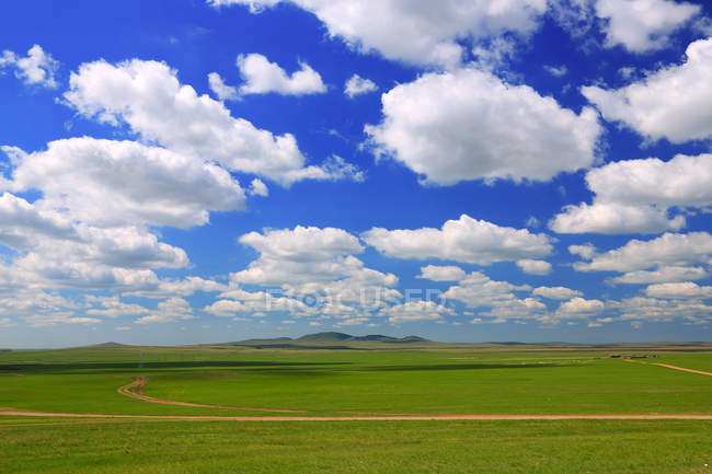 Beautiful Landscape at Hulun Buir Grassland Inner Mongolia — Stock Photo