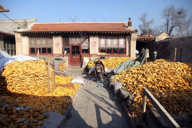 Hebei province, Zhangjiakou jimingyi houses, China — Stock Photo