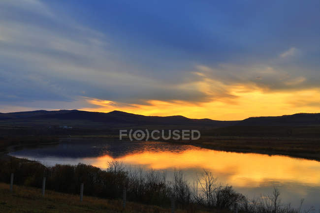 Beautiful landscape with EerguNa River in Hulun Buir, Inner Mongolia — Stock Photo