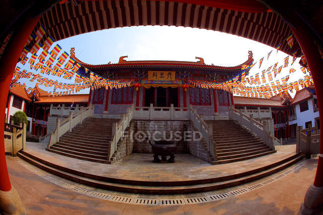 Jiangjin west shaolin tempel, chongqing, china — Stockfoto