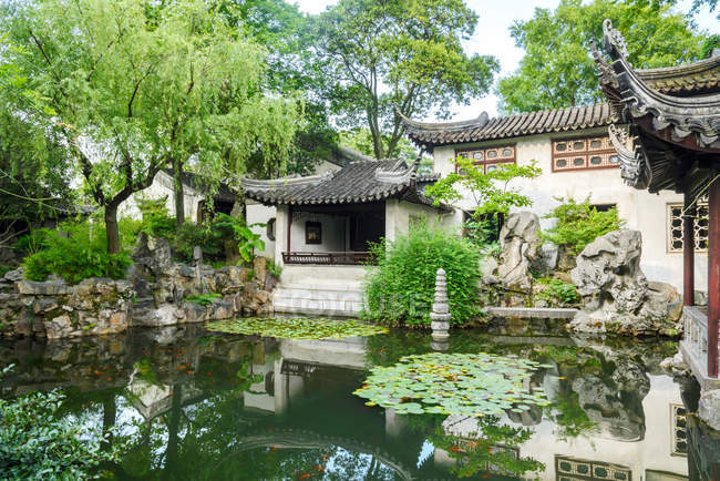 Jardin de Suzhou, province du Jiangsu, Chine — Photo de stock