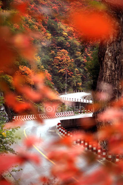 Autumn Landscape in Lushi County of Henan Province, China — Stock Photo
